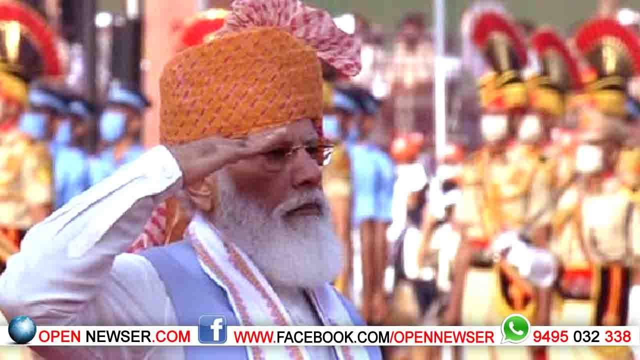 75-ാം സ്വാതന്ത്ര ദിനാഘോഷത്തില് രാജ്യം; നൂറ് ലക്ഷം കോടിയുടെ ഗതിശക്തി പദ്ധതി പ്രഖ്യാപിച്ച് പ്രധാനമന്ത്രി
