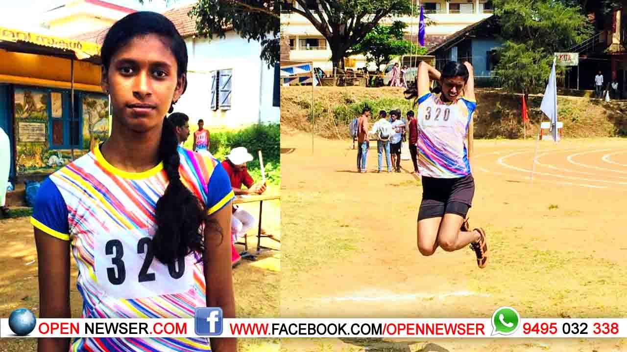 വയനാട് ജില്ലാ സ്കൂള് കായികമേള;  തുടര്ച്ചയായ അഞ്ചാം തവണയും ലോംഗ് ജമ്പില് ഒന്നാംസ്ഥാനം നേടി ജോസ്ന ഏലിയാസ്